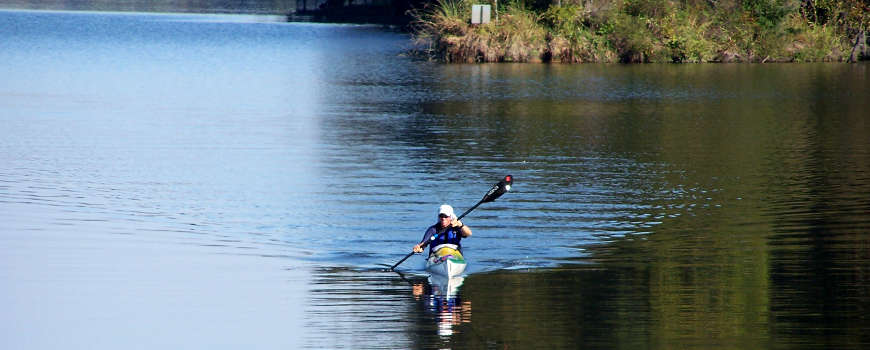 A kayaker on the Alabama Scenic River