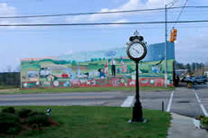 The town clock in Clio, Alabama