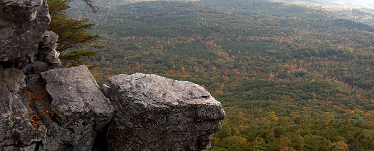 The view from Pulpit Rock, Cheaha State Park