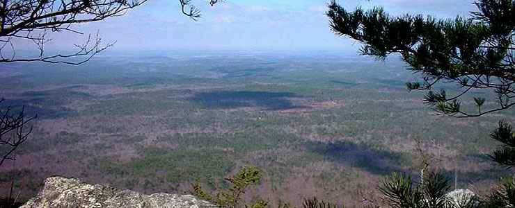 Cheaha Wilderness, a view of the Talladega Mountains