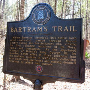 Bartram Trail Sign, Tuskegee National Forest