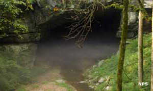 One of the entrances to Russell Cave