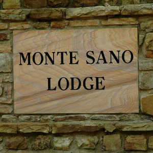 The lodge sign at Monte Sano State Park