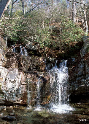 High Falls in Cheaha Wilderness