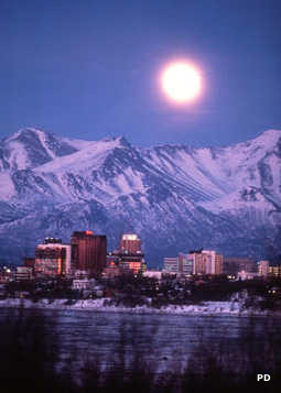Anchorage under a full moon