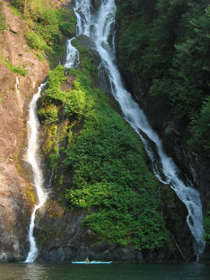 Waterfall in Misty Fjords National Monument, part of Tongass National Forest