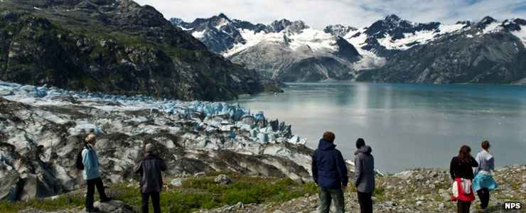 Visitors to Glacier Bay National Park and Preserve