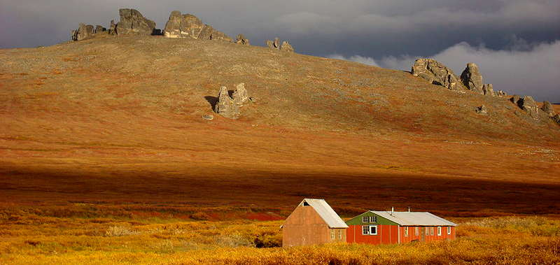 The bunkhouse at Serpentine Hot Springs, Bering Land Bridge National Preserve