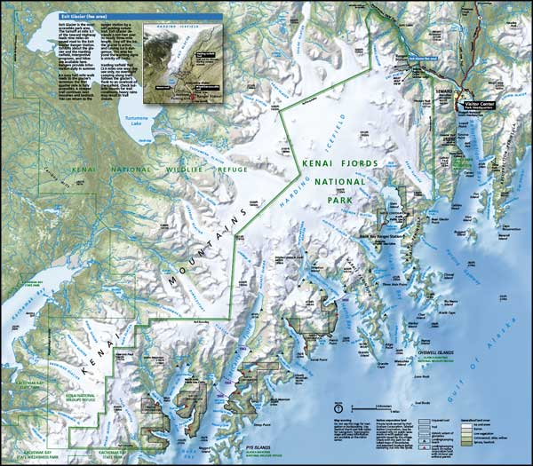 Map of Kenai Fjords National Park