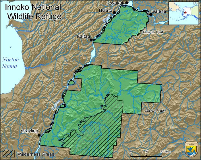 Map of Innoko National Wildlife Refuge