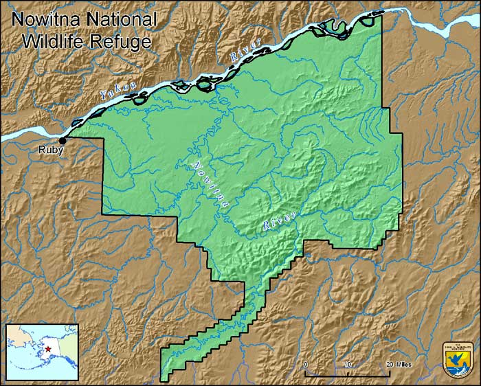 Map of Nowitna National Wildlife Refuge