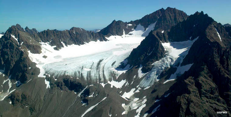 A mountain glacier in Togiak Wilderness