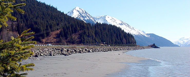 Seward Highway along Turnagain Arm