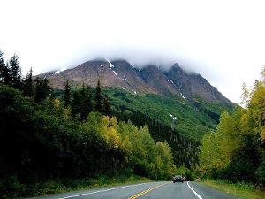 Seward Highway in Chugach National Forest