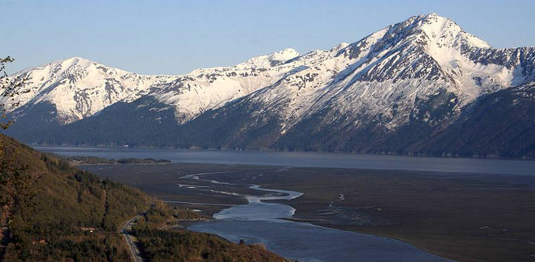 The Seward Highway along Turnagain Arm