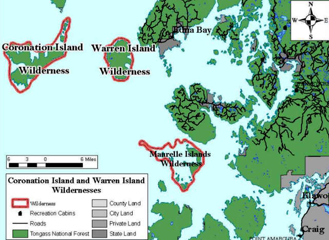 Map of Warren Island Wilderness