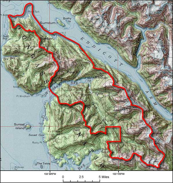 Chuck River Wilderness map