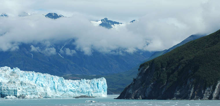 A view of Hubbard Glacier and Russell Fjord