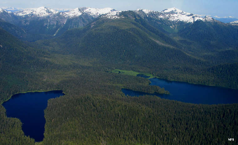 An aerial view of South Etolin Wilderness