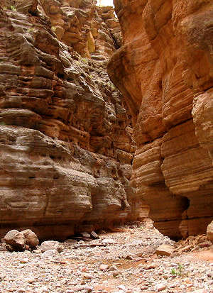 At the mpouth of a slot canyon in Kanab Creek Wilderness
