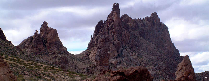 Rock formations in the New Water Mountains Wilderness