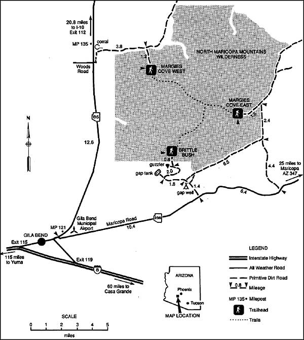 North Maricopa Mountains Wilderness map