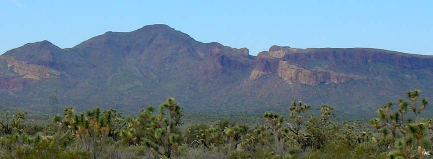 A long distance view of Sawyer Peak