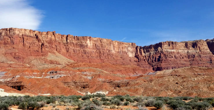 View of the Vermilion Cliffs