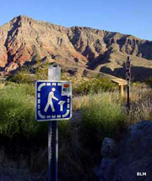 Interpretive panel at the Virgin River Gorge Campground