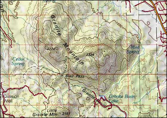 Granite Mountain Wilderness map