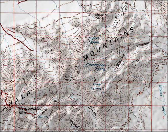 Harquahala Mountains Wilderness area map
