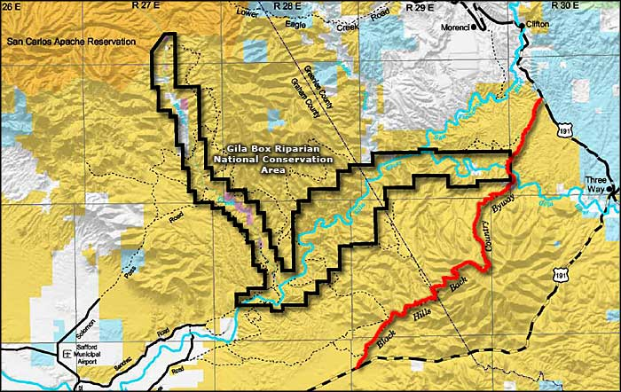 Black Hills Backcountry Byway area map