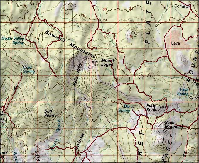 Mount Logan Wilderness map