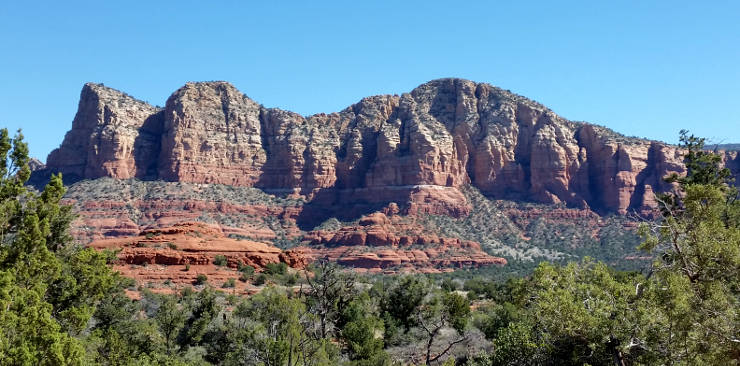 A view of the Red Rocks of Sedona