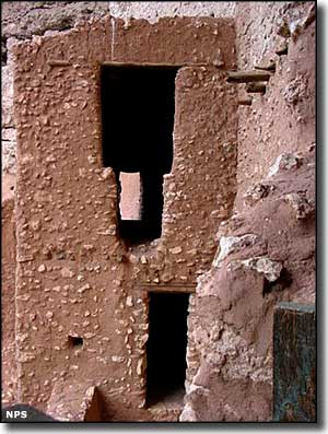 Masonry doorways at Montezuma Castle National Monument