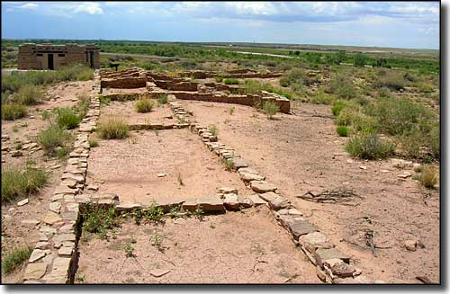 Ancestral Puebloan ruins above the Rio Puerco