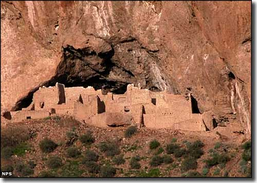The upper cliff dwelling at Tonto National Monument