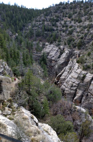 A view of Walnut Canyon