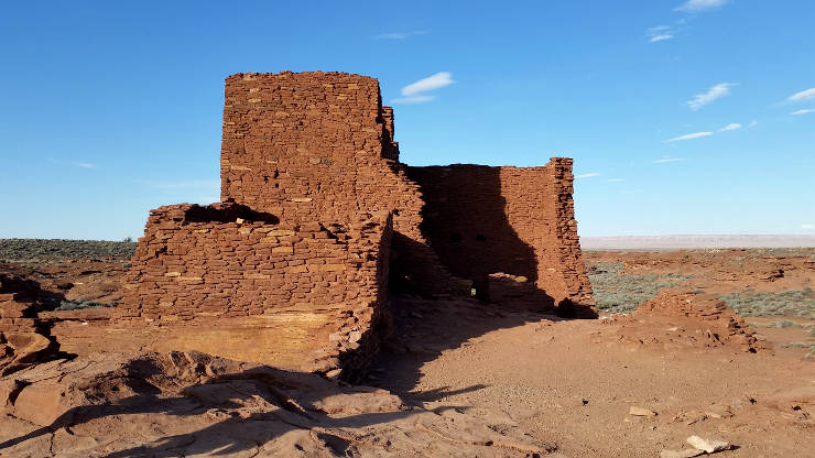 The tower at Wukoki, Wupatki National Monument
