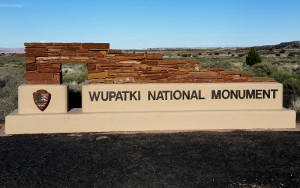 Entry sign at Wupatki National Monument