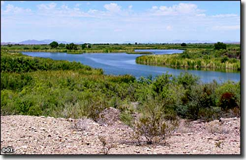 Colorado River channel at Imperial National Wildlife Refuge
