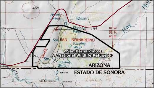 Map of San Bernardino National Wildlife Refuge