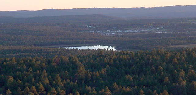 A view over the Mogollon Rim from Pinetop-Lakeside