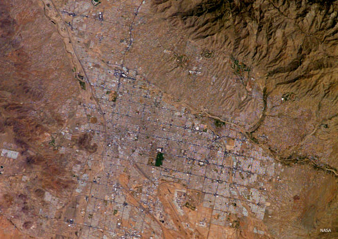 Tucson from space