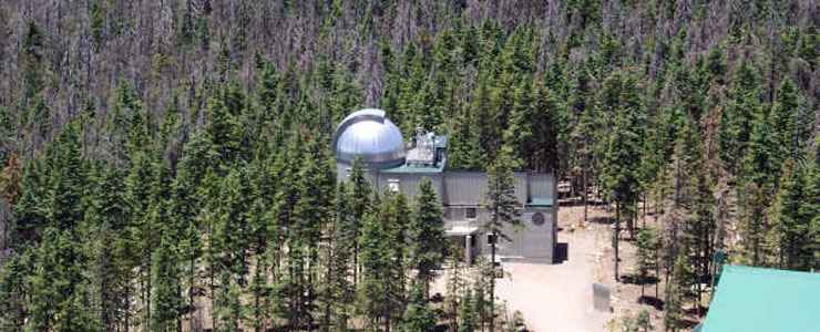The Vatican Advanced Technology Telescope on Mount Graham at the upper end of the Swift Trail Parkway
