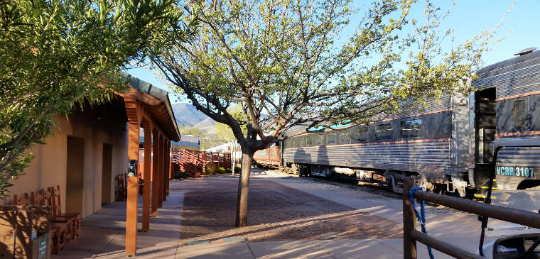 In Clarkdale at the Verde Canyon Railroad station