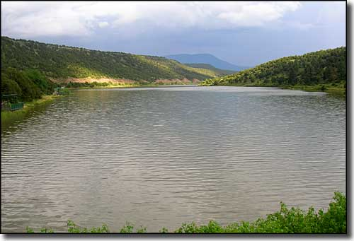 A reservoir beside the Coronado Trail Scenic Byway south of Eagar