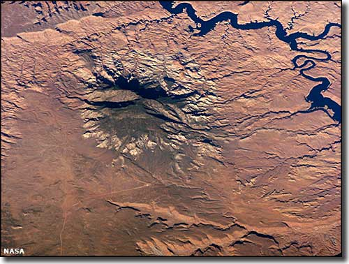 Navajo Mountain from space
