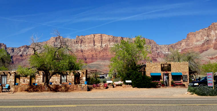 Marble Canyon, the resort, the town