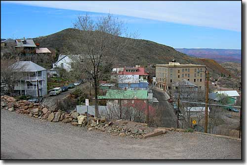 Switchback in Jerome on the Jerome, Clarkdale and Cottonwood Historic Road